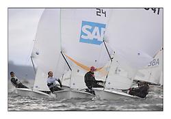 470 Class European Championships Largs - Day 6.GER24, Nadine B?HM, Karoline G?LTZER, Deutscher Touring Yachtclub and SWE341, Kajsa SUNDKLEV, Therese ANTMAN, Kungliga Svenska Segels?llskapet.