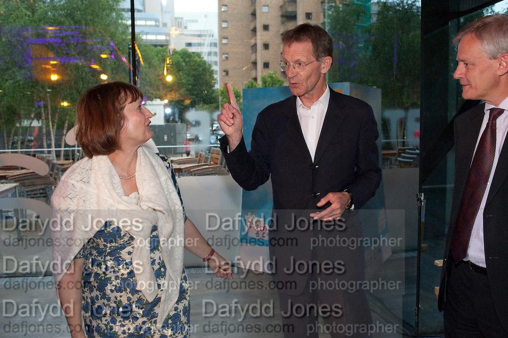 TESSA JOWELL; SIR NICHOLAS SEROTA, The Tate Movie Project Launch, Tate Modern. London. 5 July 2011. <br /> <br />  , -DO NOT ARCHIVE-© Copyright Photograph by Dafydd Jones. 248 Clapham Rd. London SW9 0PZ. Tel 0207 820 0771. www.dafjones.com.