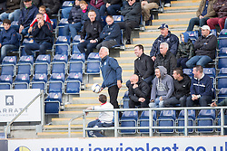 South stand. <br /> Falkirk 2 v 1 Alloa Athletic, Scottish Championship game played 4/10/2014 at The Falkirk Stadium.