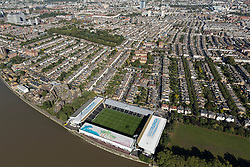 © Licensed to London News Pictures. 26/04/2016. London, UK. Fulham Football Club, Craven Cottage, Stevenage Rd, Fulham, London SW6 6HH. Photo credit: Martin Apps/LNP