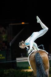 Rikke Laumann, (DEN), Ghost Alfarvad Z, Lasse Kristensen - Individuals Women Final Vaulting - Alltech FEI World Equestrian Games™ 2014 - Normandy, France.<br /> © Hippo Foto Team - Jon Stroud<br /> 05/09/2014