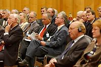 """09 SEP 2003, BERLIN/GERMANY:<br /> Botschafter und Mitarbeiter des Auswaertigen Amtes, waehrend einer Veranstaltung zum Thema """"Die EU nach dem Konvent"""", 4. Botschafterkonverenz, Weltsaal, Auswaertiges Amt<br /> IMAGE: 20030909-02-037<br /> KEYWORDS: Valéry Giscard d´Estaing"""