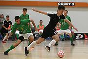 Capital player Michael Plim in the Mens Futsal Superleague match, Central v Capital, Pettigrew Green Arena, Napier, Saturday, September 28, 2019. Copyright photo: Kerry Marshall / www.photosport.nz