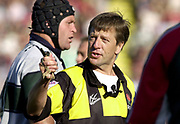 Leicester, 13th September 2003, Zurich Premiership Rugby,  Welford Road, <br /> [Mandatory Credit; Peter Spurrier/Intersport Images]<br /> Zurich Premiership Rugby - Leicester Tigers v London Irish.<br /> Referee Tony Spreadbury,