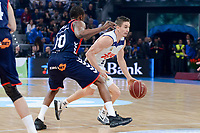 Baskonia's Rodrigue Beaubois and Real Madrid's Jaycee Carroll during Semi Finals match of 2017 King's Cup at Fernando Buesa Arena in Vitoria, Spain. February 18, 2017. (ALTERPHOTOS/BorjaB.Hojas)