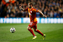 Galatasaray Midfielder Wesley Sneijder (NED) in action - Photo mandatory by-line: Rogan Thomson/JMP - 18/03/2014 - SPORT - FOOTBALL - Stamford Bridge, London - Chelsea v Galatasaray - UEFA Champions League Round of 16 Second leg.