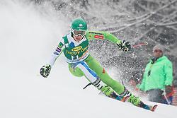 Forerunner Tina Robnik of Slovenia during 1st run of Men's GiantSlalom race of FIS Alpine Ski World Cup 57th Vitranc Cup 2018, on March 3, 2018 in Kranjska Gora, Slovenia. Photo by Ziga Zupan / Sportida