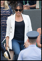 July 4, 2019 - London, London, United Kingdom - Image licensed to i-Images Picture Agency. 04/07/2019. London, United Kingdom. Meghan Markle, The Duchess of Sussex, arriving to watch Serena Williams on day four of the Wimbledon Tennis Championships in London. (Credit Image: © Stephen Lock/i-Images via ZUMA Press)