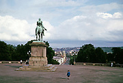 Equestrian statue  King Carl XIV Johan,  Brynjulf Bergslien 1875, Royal Palace, Oslo,  Norway, 1970