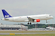 SAS - Scandinavian Airlines, Airbus A320 at Milan, Italy