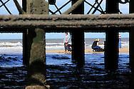 Family on beach Blackpool, UK, 14/8/10