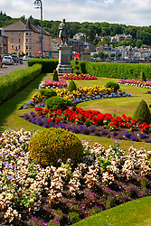 Flower garden in Winter Gardens on esplanade in Rothesay in Rothesay, Isle of Bute, Argyll and Bute, Scotland, UK