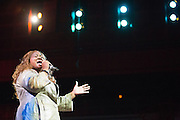 """Barbara Mitchell performs """"Still Mighty, Still Strong"""" during the 30th Annual Black Music & the Civil Rights Movement Concert at the Morton H. Meyerson Symphony Center in Dallas, Texas, on January 20, 2013.  (Stan Olszewski/The Dallas Morning News)"""