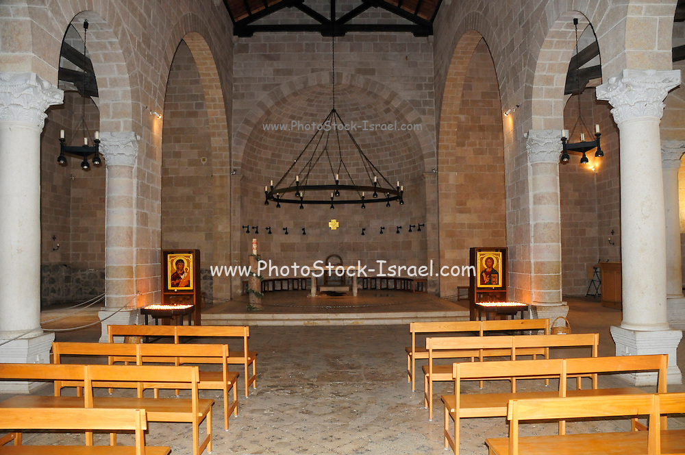 The Church of the Multiplication of the Loaves and Fishes, is a Roman Catholic church located in Tabgha, on the northwest shore of the Sea of Galilee in Israel. The modern church rests on the site of two earlier churches.