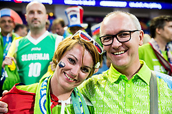 Supporters of Slovenia during basketball match between National Teams of Slovenia and Spain at Day 15 in Semifinal of the FIBA EuroBasket 2017 at Sinan Erdem Dome in Istanbul, Turkey on September 14, 2017. Photo by Vid Ponikvar / Sportida