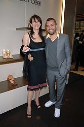 Designer EDMUNDO CASTILLO and JULIA PESSINA at a party at shoe store Sergio Rossi, 207 Sloane Street, London on 4th April 2007.<br /><br />NON EXCLUSIVE - WORLD RIGHTS