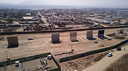 October 13, 2017 - San Diego, California, U.S. - View looking from north to south of the construction site where contractors are competing for the chance that their designs will be picked to build a new border wall. (Credit Image: © John Gibbins/San Diego Union-Tribune via ZUMA Wire)