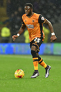 Adama Diomande of Hull City  during the Sky Bet Championship match between Hull City and Bolton Wanderers at the KC Stadium, Kingston upon Hull, England on 12 December 2015. Photo by Ian Lyall.