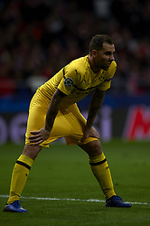 November 6, 2018 - Madrid, Spain - Paco Alcacer of Borussia Dortmund during the Group A match of the UEFA Champions League between AtleticoLucien Favre of Borussia Dortmund Madrid and Borussia Dortmund at Wanda Metropolitano Stadium, Madrid on November 07 of 2018. (Credit Image: © Jose Breton/NurPhoto via ZUMA Press)