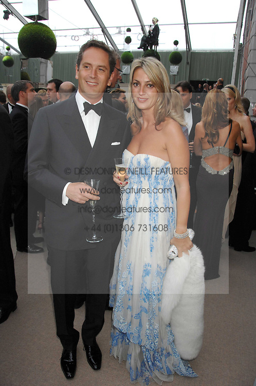 HUGH & BEATRICE WARRENDER  at the Ark 2007 charity gala at Marlborough House, Pall Mall, London SW1 on 11th May 2007.<br />