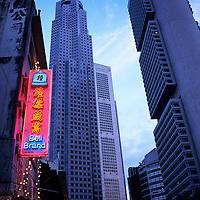 City scene, Chinatown at night