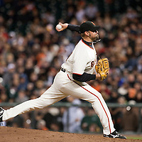 17 April 2009: San Francisco Giants' Jeremy Affeldt pitches against the Arizona Diamondbacks during the San Francisco Giants' 2-0 win against the Arizona Diamondbacks at AT&T Park in San Francisco, CA.