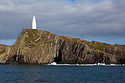 The 15m high Baltimore Beacon, built in 1849, as an aid to navigation for the treacherous waters of the Irish coast on the way into Roaringwater Bay and Baltimore Harbour . It's known locally as Lot's Wife, as it looks like a pillar of salt.