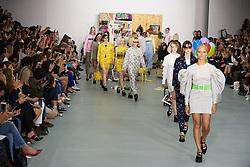 September 16, 2016 - London, England, United Kingdom - Models walk down the runway at London Fashion wearing Ashely William's SS17 during London Fashion Week on Sept 16th 2016. (Credit Image: © Karyn Louise/NurPhoto via ZUMA Press)