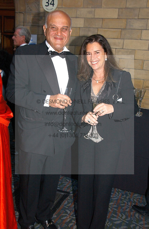 SIR MAGDI YACOUB and PROF.NADIA ROSENTHAL at a gala dinner in the presence of HM Quenn Silvia of Sweden and HM Queen Noor of Jordan in aid of the charity Mentor held at the Natural History Museum, Cromwell Road, London on 23rd May 2006.<br /><br />NON EXCLUSIVE - WORLD RIGHTS