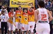 DESCRIZIONE : Berlino Berlin Eurobasket 2015 Group B Spain Italy<br /> GIOCATORE : Spain team<br /> CATEGORIA : team squadra esultanza<br /> SQUADRA : Spain<br /> EVENTO : Eurobasket 2015 Group B<br /> GARA : Spain Italy<br /> DATA : 08/09/2015<br /> SPORT : Pallacanestro<br /> AUTORE : Agenzia CiamilloCastoria/R.Morgano<br /> Galleria : EuroBasket 2015<br /> Fotonotizia : Berlino Berlin Eurobasket 2015 Group B Spain ItalyGroup B Spain Italy
