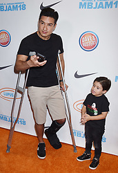 """Dennis DeDantis and Brooklyn DeDantis at the Michael B. Jordan and Lupus LA Present """"2nd Annual MBJAM18"""" held at Dave ©. 28 Jul 2018 Pictured: Mario Lopez and Dominic Lopez. Photo credit: Janet Gough / AFF-USA.COM / MEGA TheMegaAgency.com +1 888 505 6342"""