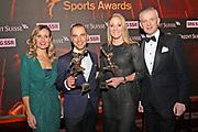Sandra Studer, Nino Schurter, Daniela Ryf und Rainer Maria Salzgeber bei den CS Sports Awards 2018