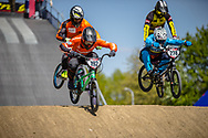 #192 (VAN DER BURG Dave) NED and #278 (RAMIREZ YEPES Carlos Alberto) COL during practice of Round 3 at the 2018 UCI BMX Superscross World Cup in Papendal, The Netherlands