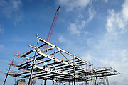 Oostende, Belgium, 30 maart 2015, aanleg van parkeergebouw.