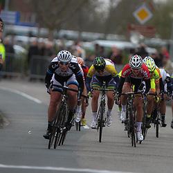 DELFZIJL wielrennen, De eerste etappe van de Energiewachttour 2014 werd verreden rond Delfzijl. Kirsten WIld wins 1th stage