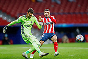 Guilherme Alvim Marinato of Lokomotiv and Angel Correa of Atletico de Madrid in action during the UEFA Champions League, Group A football match between Atletico de Madrid and Lokomotiv Moskva on november 25, 2020 at Wanda Metropolitano stadium in Madrid, Spain - Photo Oscar J Barroso / Spain ProSportsImages / DPPI / ProSportsImages / DPPI