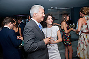 LARRY GAGOSIAN; MOLLIE DENT-BROCKLEHURST;, Dinner hosted by Julia Peyton-Jones and Hans Obrist for the Council of the Serpentine to celebrate: Jeff Koons, Popeye Series. Paramount Club, Paramount Centre Point. London. 30 June 2009