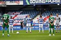 Football - 2019 / 2020 Sky Bet (EFL) Championship - Queens Park Rangers vs. Sheffield Wednesday<br /> <br /> Players observe a minutes silence for the NHS before the game, at Kiyan Prince Foundation Stadium (Loftus Road).<br /> <br /> COLORSPORT/ASHLEY WESTERN