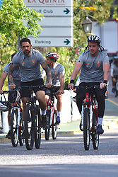 EXCLUSIVE: Liverpool Football Club players cycling around Marbella. 18 May 2018 Pictured: Liverpool Football Club in bicycle. Photo credit: MEGA TheMegaAgency.com +1 888 505 6342