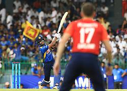 October 23, 2018 - Colombo, Sri Lanka - Sri Lankan cricketer Kusal Mendis plays a shot during the 5th One Day International cricket match between Sri Lanka and England at the R Premadasa International Cricket Stadium  Sri Lanka. Tuesday 23 October 2018  (Credit Image: © Tharaka Basnayaka/NurPhoto via ZUMA Press)