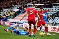 Peterborough United forward Matt Godden (9) appeals for a foul during the EFL Sky Bet League 1 match between Peterborough United and Walsall at London Road, Peterborough, England on 22 December 2018.