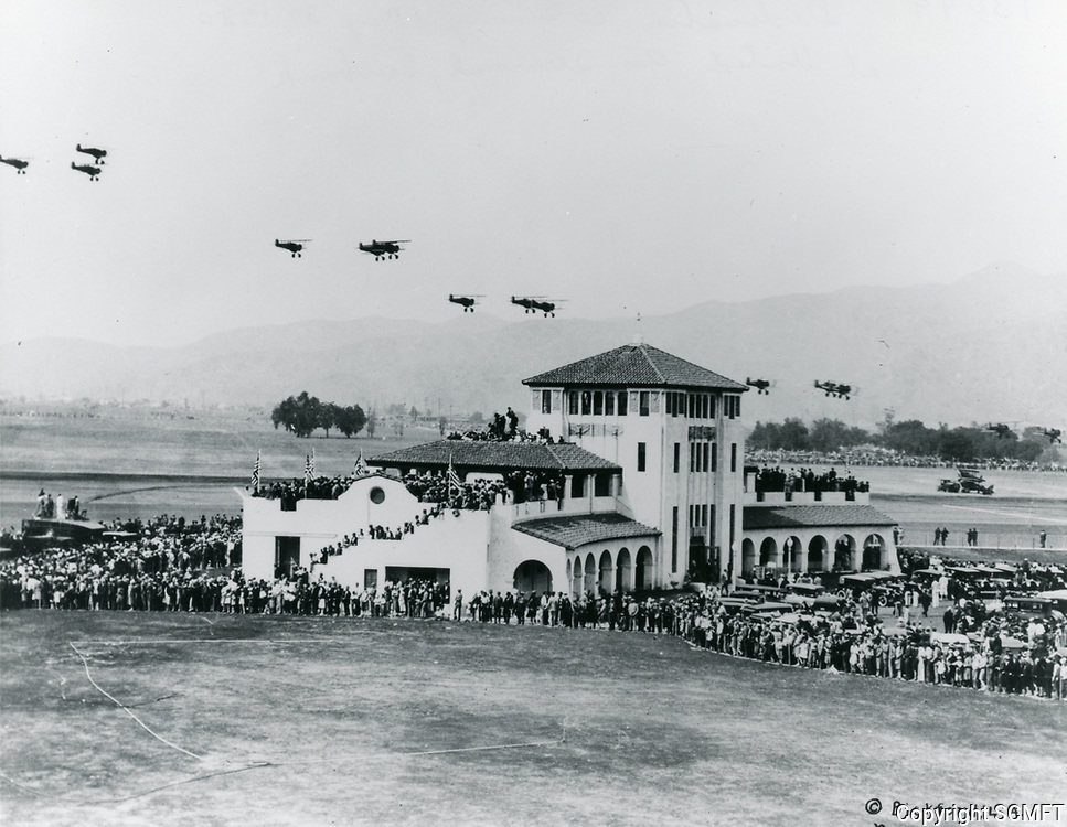 5/30/1930 Fly over during the dedication of the United Air Terminal in Burbank