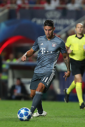 September 19, 2018 - Lisbon, Portugal - Bayern Munich's midfielder James Rodriguez from Colombia in action during the UEFA Champions League Group E football match SL Benfica vs Bayern Munich at the Luz stadium in Lisbon, Portugal on September 19, 2018. (Credit Image: © Pedro Fiuza/NurPhoto/ZUMA Press)