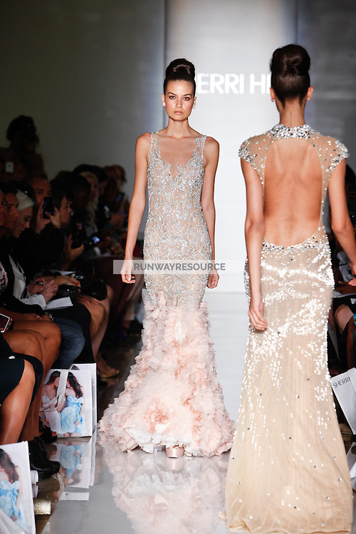 Sherri Hill Spring 2013 Collection during Mercedes-Benz Fashion Week, New York, on September 7, 2012