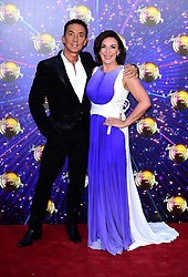 Bruno Tonioli (left) and Shirley Ballas arriving at the red carpet launch of Strictly Come Dancing 2019, held at BBC TV Centre in London, UK.