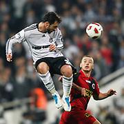 Besiktas's Hugo ALMEIDA (L) during their Turkish superleague soccer match Besiktas between Genclerbirligi at BJK Inonu Stadium in Istanbul Turkey on Friday, 15 April 2011. Photo by TURKPIX