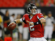 ATLANTA - AUGUST 29:  Quarterback Matt Ryan #2 of the Atlanta Falcons throws a pass during the game against the San Diego Chargers at the Georgia Dome on August 29, 2009 in Atlanta, Georgia.  (Photo by Mike Zarrilli/Getty Images)