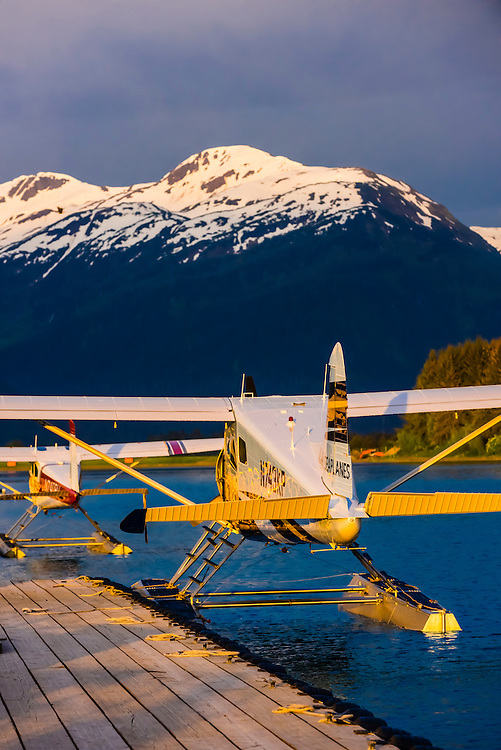 Alaska Seaplanes planes at seaplane base, Juneau International Airport, Juneau, Inside Passage, Southeast Alaska USA.