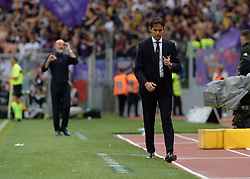 October 7, 2018 - Rome, Italy - Simone Inzaghi during the Italian Serie A football match between S.S. Lazio and Fiorentina at the Olympic Stadium in Rome, on october 07, 2018. (Credit Image: © Silvia Lore/NurPhoto/ZUMA Press)