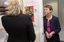 © Licensed to London News Pictures . 21/09/2014 . Manchester , UK . EMBARGOED UNTIL 00:01 on WEDNESDAY 24TH SEPTEMBER 2014 . Shadow Home Secretary YVETTE COOPER is shown around St Marys Sexual Assault Referral Centre in Manchester by clinical director Dr Catherine White ahead of her speech on Wednesday (24th September 2014) . Photo credit : Joel Goodman/LNP
